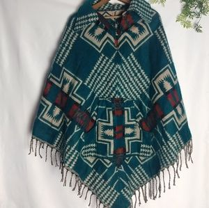 🌿🌱100% wool poncho made in nepal
